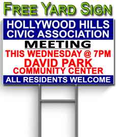 Request Your HHCA Yard Sign